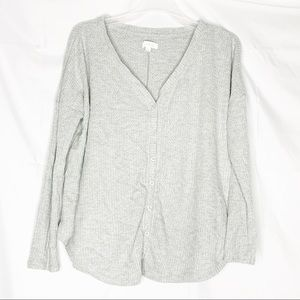 3/$25 Colsie waffle knit soft button down sweater
